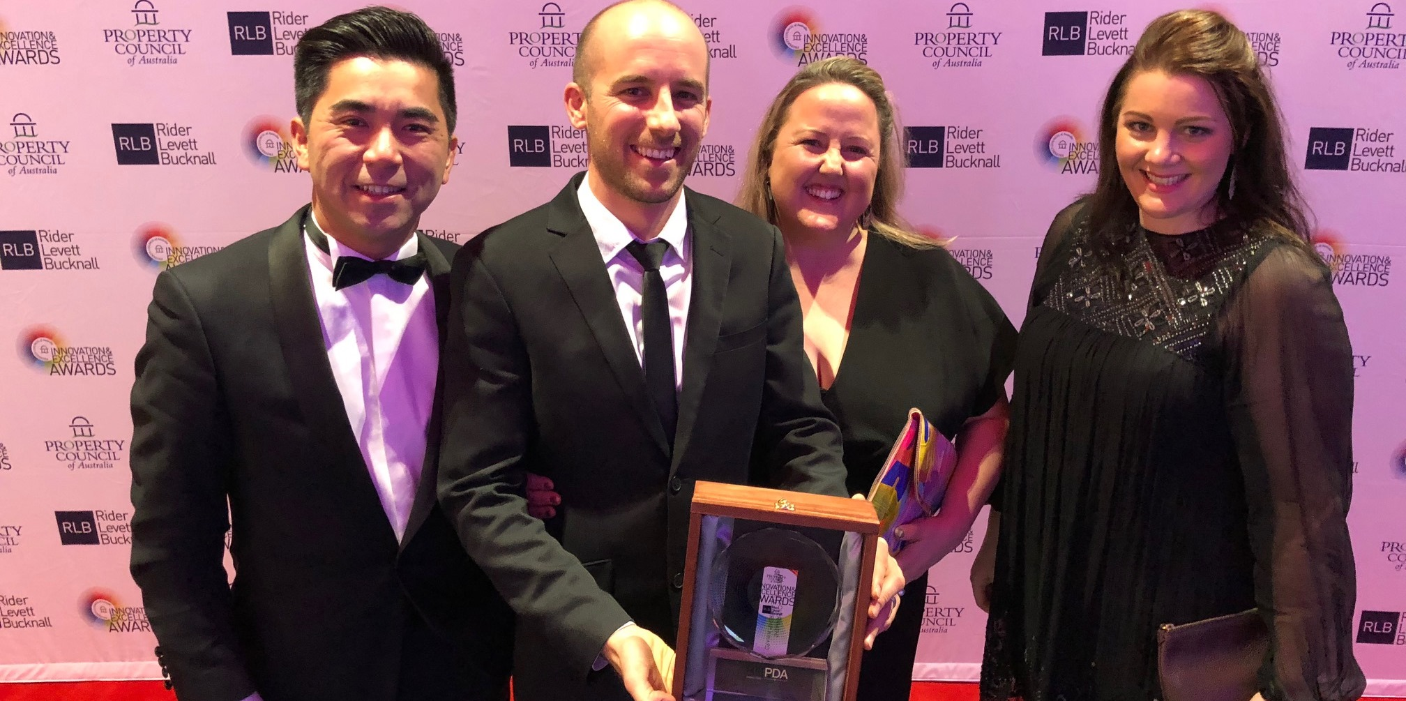 VicTrack staff with the Property Council of Australia award