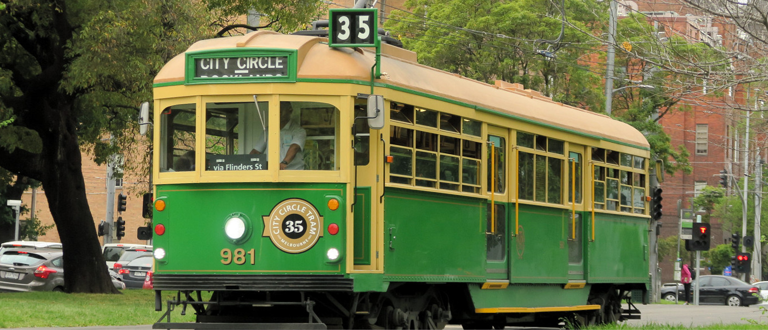 W Class tram on the streets of Melbourne