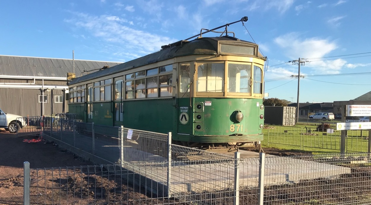 Retired tram at the Terang RSL